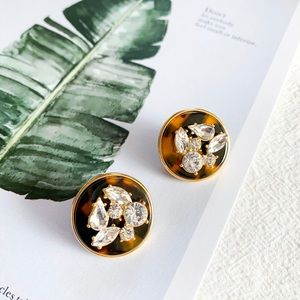 J. Crew tortoise disc stud earrings